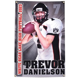 Vertical Photo Banner - Grey