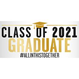 Horizontal Graduation Banner - Class of 2020 Graduate All in This Together