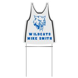 Tank Jersey-shaped Custom and Personalized Yard Sign