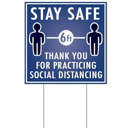 Social Distancing Yard Sign