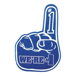 We're #1 Foam Hand - Blue and White