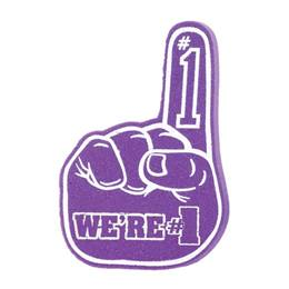 We're #1 Foam Hand - Purple and White