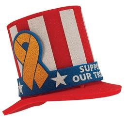 Foam Top Hat - Ribbon Band