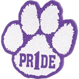 """""""Pr1de"""" Foam Paw Mitt - Purple/White"""
