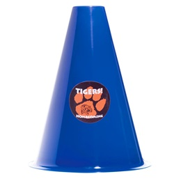 Blue Megaphone with Sticker