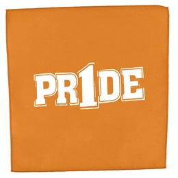 "Orange/White ""Pr1de"" Pep Rag"