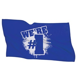 We're #1 Towel - Blue/White