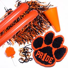 Orange/Black Deluxe Paw Pride Set