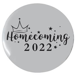 """2 1/4"""" Custom Button - Stars and Crown Homecoming"""