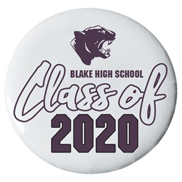 3 in. Custom Button - Panthers/Class of 2020