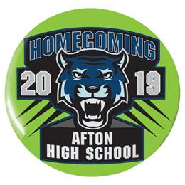 """3"""" Custom Button - Tigers Homecoming"""