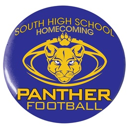 "3"" Custom Button - Panther Football"