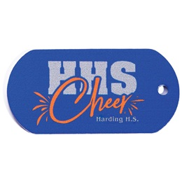 Full-color Custom Dog Tag with Personalization - Cheer