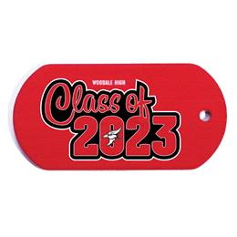 Full-color Custom Dog Tag with Personalization - Class of/Mascot