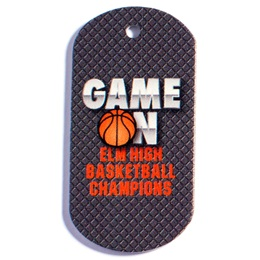 Game On Basketball Dog Tag