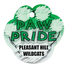 Custom Paw-shaped Dog Tag - Green Paw Pride