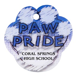 Custom Paw-shaped Dog Tag - Blue Paw Pride