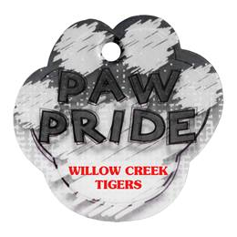 Custom Paw-shaped Dog Tag - Black Paw Pride