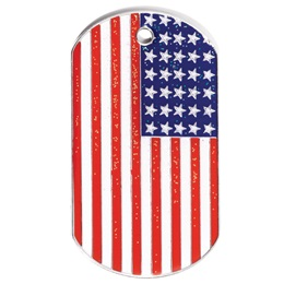 Glitter Dog Tag - USA Flag