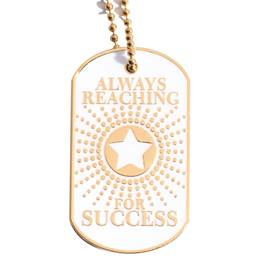 Always Reaching For Success Starburst Dog Tag
