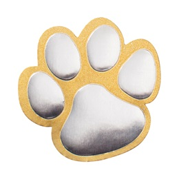 Gold and Silver Paw Foil Certificate Seals