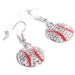 Spirit Baseball Earrings