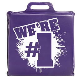 We're #1 Seat Cushion - Purple and White