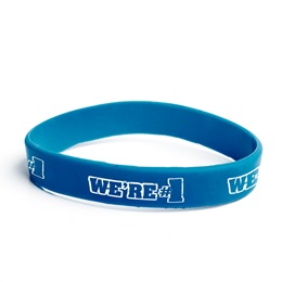 We're #1 Silicone Wristband - Blue