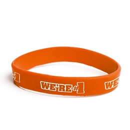 We're #1 Silicone Wristband - Orange
