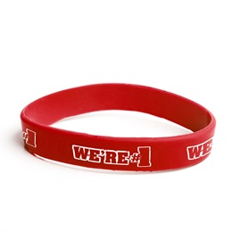 We're #1 Silicone Wristband - Red