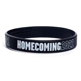 Homecoming Year Wristband - Black/White