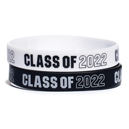 """Black and White """"Class of.."""" Wristband Set (set of 12)"""