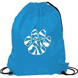 Columbia Blue Cinch Strap Notebook Backpack