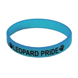 Columbia Blue Screen-printed Silicone Wristband