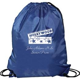 Navy Blue Cinch Strap Notebook Backpack