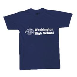 Navy Blue Custom Imprinted T-Shirt