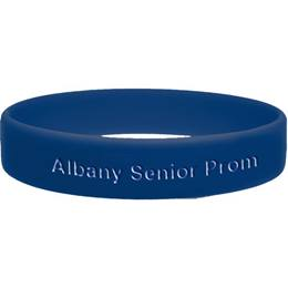 Navy Blue Engraved Silicone Wristband