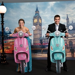 Vespas in London Photo Scene
