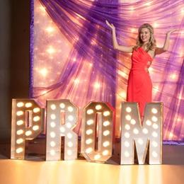 Large Lit Prom Letters
