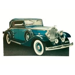 Blue Gatsby Car Photo Prop
