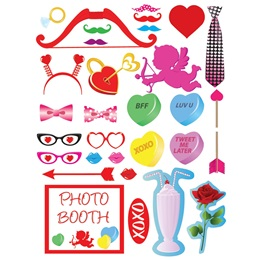 Valentine's Day Photo Prop Kit