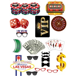 Casino Photo Prop Kit