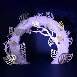 Mystic White Garden Arch Kit
