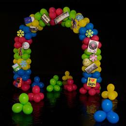 Goin' Retro Balloon Arch and Clusters Kit