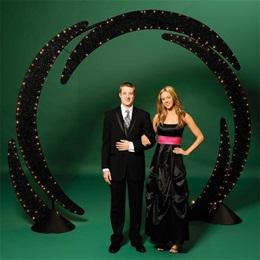 Lit Black Wire Swirl Arch