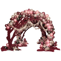 Forever Crimson Small Arches and Flowers Kit (set of 3)