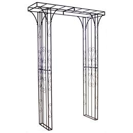 Square Top Metal Arch