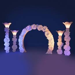 Dreams in Bloom Arch and Columns Kit (set of 4 columns)