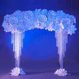 Rose White Flower Arch Kit