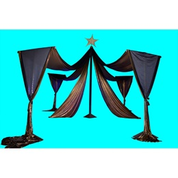 Grand Span Draped Fabric Stands Kit